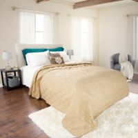 Nottingham Home Solid Twin Quilt in Taupe