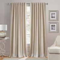 Lorenzo 84-Inch Back Tab Window Curtain Panel in Natural