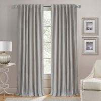 Lorenzo 63-Inch Back Tab Window Curtain Panel in Grey