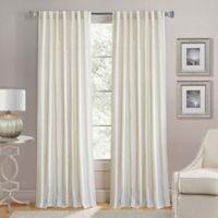 Lorenzo 84-Inch Back Tab Window Curtain Panel in Jute