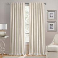 Lorenzo 84-Inch Back Tab Window Curtain Panel in Linen