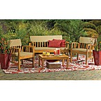 4-Piece Westerly Acacia Wood Deep Seating Chat Set