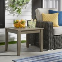 Verona Home Pacific Grove Outdoor End Table in Grey