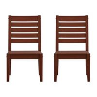Verona Home Pacific Grove Outdoor Dining Chairs in Brown (Set of 2)
