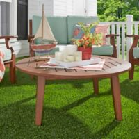 Verona Home Pacific Grove Outdoor Round Cocktail Table in Brown