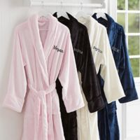 Classic Comfort Embroidered Name Luxury Fleece Robe
