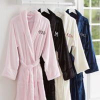 Classic Comfort Embroidered Monogram Luxury Fleece Robe