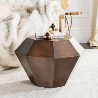 Safavieh Grace Accent Table In Antique Copper