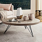 Safavieh Mansel Round Coffee Table in Light Grey