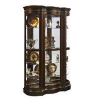 Pulaski Harley Shaped Door Curio in Brown