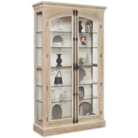 Pulaski Hailey Cremone Door Curio in Brown