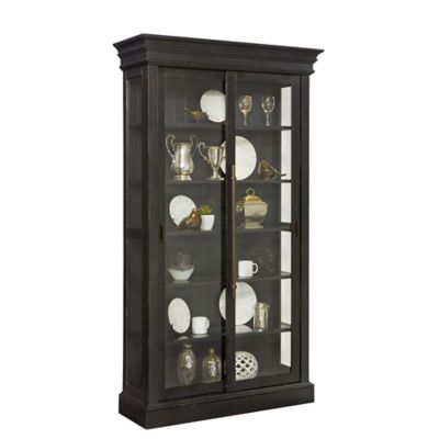 Exceptional Pulaski Traditional Sliding Bypass Door Curio In Black