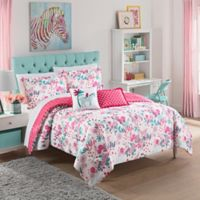 Waverly Kids Reverie Twin Reversible Comforter Set in Pink
