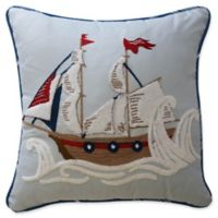 Waverly Kids Ride the Waves Square Throw Pillow in Aqua
