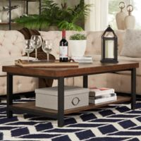 iNSPIRE Q® Barker Industrial Cocktail Table in Brown
