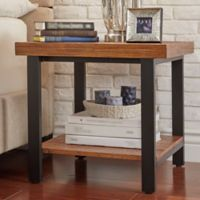 iNSPIRE Q® Barker Industrial End Table in Oak Finish