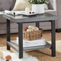 iNSPIRE Q® Barker Industrial End Table in Grey