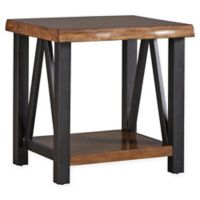 Verona Home Ridley Live Edge Rustic End Table