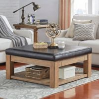 iNSPIRE Q® Allie Smooth Cocktail Table/Ottoman in Brown