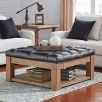 iNSPIRE Q® Allie Button Tufted Cocktail Table/Ottoman in Brown