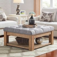 iNSPIRE Q® Allie Button Tufted Cocktail Table/Ottoman in Grey