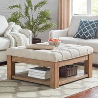 iNSPIRE Q® Allie Button Tufted Cocktail Table/Ottoman in Beige