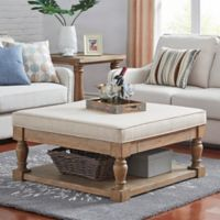 Verona Home Annie Smooth Top Tail Table Ottoman In Beige