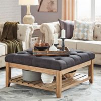 iNSPIRE Q® April Button Tufted Cocktail Table in Dark Grey