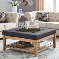 iNSPIRE Q® April Tufted Top Cocktail Table in Dark Grey