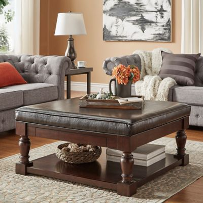 Verona Home Annie Espresso Smooth Top Cocktail Table/Ottoman In Brown