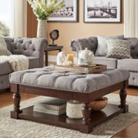 iNSPIRE® Annie Button Tufted Cocktail Table/Ottoman in Grey