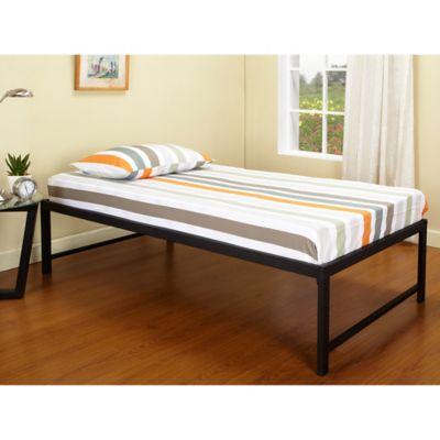 Ku0026B Furniture Hi Riser Metal Platform Bed In Black