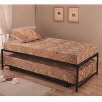 K&B Furniture Hi-Riser Metal Bed with Pop-Up in Black