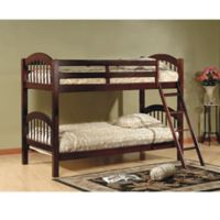 K&B Furniture Arched Twin Bunk Bed in Esprit Cherry
