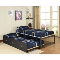 K&B Furniture B39/124 Twin Daybed with Trundle in Black