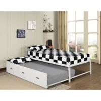 K&B Furniture B59/124 Twin Daybed with Trundle in White