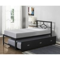 K&B Furniture B79 Twin Daybed with Trundle in Black
