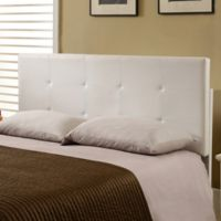 K&B Furniture B72 Full/Queen Upholstered Headboard in White