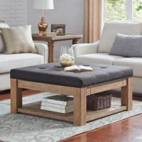 iNSPIRE Q® Allie Tufted Top Cocktail Table/Ottoman in Dark Grey