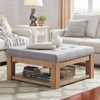 iNSPIRE Q® Allie Tufted Top Cocktail Table/Ottoman in Grey