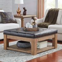 iNSPIRE Q® Allie Tufted Top Cocktail Table/Ottoman in Brown
