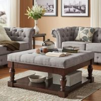 iNSPIRE Q® Annie Tufted Cocktail Table/Ottoman in Grey