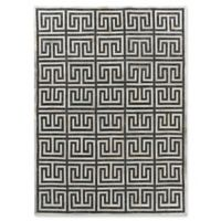 Exquisite Rugs Berlin Maze 5-Foot x 8-Foot Area Rug in Charcoal/Ivory
