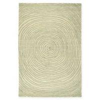 Kaleen Textura Swirl 3-Foot 6-Inch x 5-Foot 6-Inch Area Rug in Green