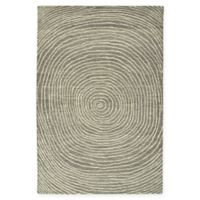 Kaleen Textura Swirl 9-Foot x 12-Foot Area Rug in Grey