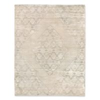 Exquisite Rugs Carrera Diamond 8-Foot x 10-Foot Area Rug in Light Beige/Gold