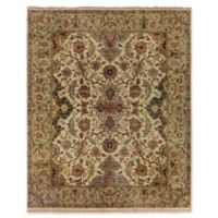 Exquisite Rugs Polonaise 8-Foot x 10-Foot Area Rug in Cream/Spruce