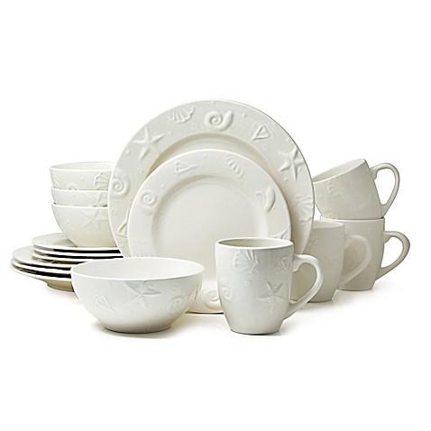 Thomson Pottery Seashells 16-Piece Stoneware Dinnerware Set - Bed Bath u0026 Beyond  sc 1 st  Bed Bath u0026 Beyond & Thomson Pottery Seashells 16-Piece Stoneware Dinnerware Set - Bed ...