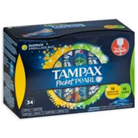 Tampax Pocket Pearl Compact 34-Count Dual Pack Tampons