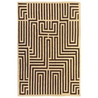 Exquisite Rugs Flatweave Labyrinth-Style 5-Foot x 8-Foot Area Rug in Brown/Ivory